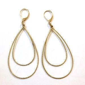 VERMEIL Gold Dangle Earrings 925